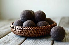Add our homemade felted wool dryer balls to your load of laundry for an all natural alternative to dryer sheets and fabric softener. Add a few