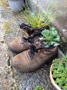 Repurposed wading boots