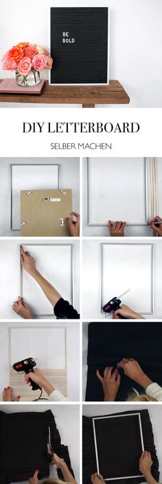 DIY Anleitung Buchstabentafel DIY Letterboard DIY Blog