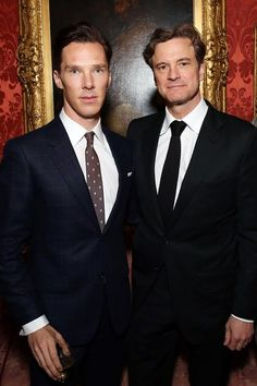 Benedict Cumberbatch and Collin Firth. Two of my favorite men, together!!