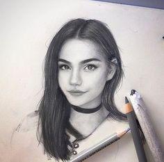 Realistic Portrait Drawing ─ s u q a p l u m Amazing Drawings, Realistic Drawings, Beautiful Drawings, Pencil Art Drawings, Drawing Sketches, Drawing Ideas, Pencil Portrait, Tag Art, Drawing People