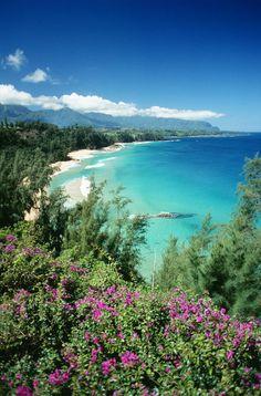 ✮ Hawaii, Kauai - Hanalei Bay, Bali Hai Beach Coastline