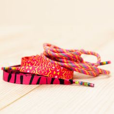 Three Pairs Of Blush Shoelaces - shoes