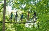 Zip through the trees one hour north of Atlanta at North Georgia Canopy Tours™! Two certified guides lead eight participants on the Sky Bridge Tour (2 hour) and Adventure Tour (3 hour). Each conclud