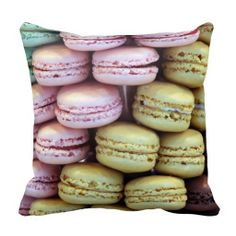 Shop Colorful macaron macaroons sweet pillow cushion created by scarletquill. Buttercream Filling, Vanilla Buttercream, Cake Pops, Paris Desserts, French Desserts, Rose Bonbon, How To Make Macarons, French Macaroons, How To Make Sandwich