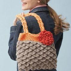 Mermaid's Favorite Crochet Tote | AllFreeCrochet.com Free crochet pattern Crochet tote scale stitch
