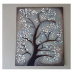 white cherry blossom tree painting crafts by amanda Abstract Tree Painting, Diy Painting, Painting On Wood, Painting Canvas, Shadow Painting, Acrylic Paintings, Rock Painting, White Blossom Tree, Blossom Trees