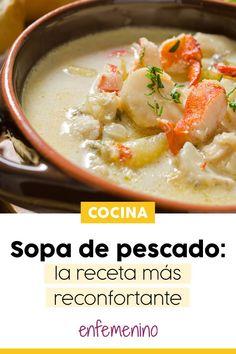 ¡Aprende a preparar una deliciosa #sopa de #pescado con nuestra #receta! No Cook Meals, Kids Meals, Queso Feta, Fish Soup, Peruvian Recipes, Mexican Food Recipes, Ethnic Recipes, Home Food, Diy Food