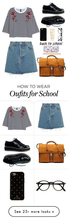 """""""Back to school"""" by feiartus on Polyvore featuring Kate Spade, ban.do, Paper Mate and RE/DONE"""