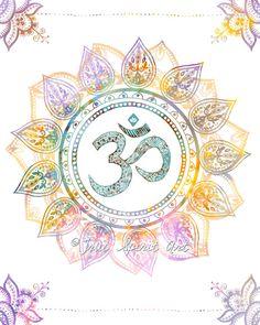 Om Symbol Art Print  8x10 Print Mandala by LeslieSabella on Etsy