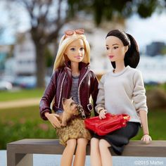 Love catching up with friends this time of year!  #barbie #barbiestyle