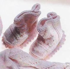 Şemalı Örgü Bebek Patiği Örnekleri