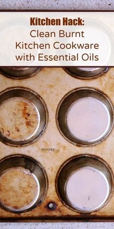 Kitchen Hack: Burnt Kitchen Cookware Cleaner using Essential Oils from RecipeswithEssentialOils.com