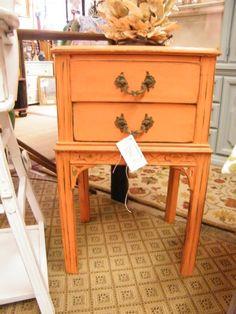 orange side table $89