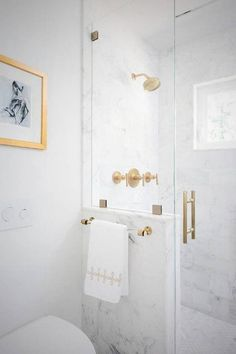 Lucite Towel Bar Polished Brass Satin Brass Open Brackets | Etsy Bathroom Ideas Uk, Bathroom Renovations, Bathroom Inspiration, Modern Bathroom, Bathroom Organization, Bathroom Pics, Gold Bathroom, Bathroom Small, Master Bathrooms