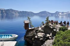 Crater Lake National Park Oregon's Crater Lake is 1,943 feet deep, making it the deepest lake in the United States.  The best way to explore this pure blue gem is Crater Lake Boat Tours, available daily from July to mid-September. Be sure to bring your walking shoes. The boat tour requires 2.2 miles of hiking round trip on a strenuous trail.  Check with Xanterra Parks & Resorts for a current boat tour schedule and reservations.