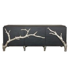 Global Views Branch Cabinet - mixing elegant and sophisticated with a more rustic look