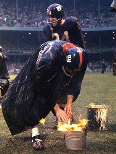 NY Giants sideline 1962