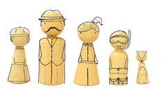 Figuras Personalizadas de Familia por ElPezVolador en Etsy