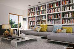 Genial wohnzimmer mit bücherregal