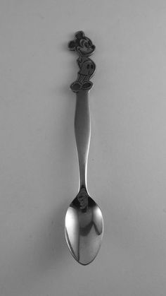 Vintage Walt Disney Prod. Stainless Steel MICKEY MOUSE Infant Spoon by Donny…