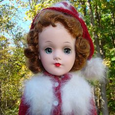 C1950s Mary Hoyer Mold Hard Plastic Doll Made in USA in Ski Outfit 14 Inch