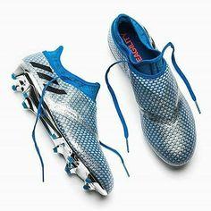 Adidas Messi 16 PureAgility - Silver Metallic / Core Black / Shock Blue