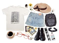 """softly"" by lucyymoriartyy ❤ liked on Polyvore featuring American Apparel and Traits"