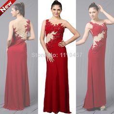 2014 Laberry Elegant Knitting Beading Flowers O-Neck Sleeveless Long Straight Evening Dress $423.79