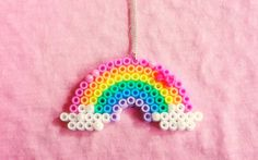 Rainbow Hama Bead Necklace by ~obscurepastels on deviantART