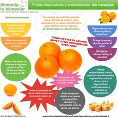 Frutas depurativas y antioxidantes: la naranja #alimentatubienestar