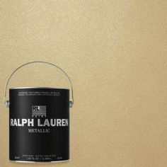 Ralph Lauren Oyster Silver Metallic Specialty Finish Interior Paint at The Home Depot - Mobile Gold Painted Walls, Metallic Paint Walls, Gold Walls, Gold Paint Colors, Interior Paint Colors, Wall Colors, Interior Painting, Ralph Lauren Paint Colors, Sponge Rollers