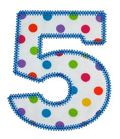 """Chubby Wubby Applique Numbers - 4"""", 5"""", 6"""", 7"""" - Satin, Vintage, Lace, Condensed Double-Diamond Stitch"""