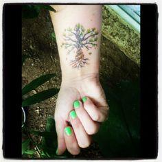 mi tattoo :)! #treeoflife #cinema #tattoo