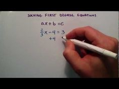 How to Solve First Degree Equations ,  ax + b = c , Intermediate Algebra , Lesson 37