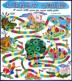 Look back at Candy Land, the vintage board game that made millions of kids want to live in a world made of ice cream & lollipops - Classic Board Games, Vintage Board Games, Toy Story Party, Toy Story Birthday, 3rd Birthday, Retro Toys, Vintage Toys, Vintage Stuff, Candyland Board Game