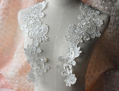 lace applique in white and black costume design by Retrolace
