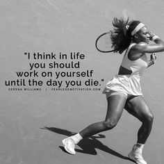 Great tennis quotes: the greatest serena williams quotes. Sport Motivation, Fitness Motivation, Hard Work Quotes, Great Quotes, Hard Work Images, Work Hard, Serena Williams Quotes, Serena Williams Workout, Serena Williams Body