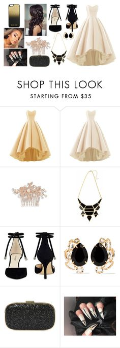 """""""Prom Outfit 2 ~ Black and cream"""" by blue99star on Polyvore featuring Nina, Nine West, Bounkit, Anya Hindmarch and MICHAEL Michael Kors"""