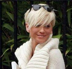 Platinum Blonde Super Short Hair for Women