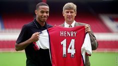 Pictures: Henry signs for Arsenal