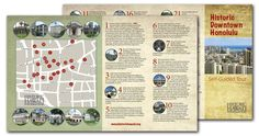 Historic Hawaii Foundation – Historic Downtown Honolulu Map Available for Self-Guided Tours Oahu Hawaii, Hawaii Travel, Mission House, Campus Map, City Maps, Big Island, Walking Tour, State Art