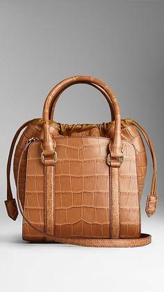 Small Tarnished Alligator Bag | Burberry