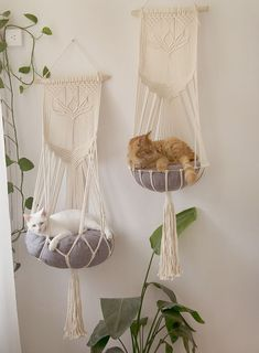 Thanks so much for visiting our store, we make macrame cat hammock in various colors, sizes, styles, and materials, all of them are made of strong, durable cords, carefully dip dyed with bright colors, and we made them in smoke-free environment with our love and best wishes for you. We listed some details of this cute macrame cat hammock below, hope it is the one you are looking for:) ♥Materials♥ We are really proud of our materials, this cat hammock is made of 100% pure cotton cor