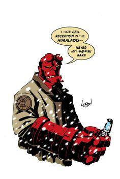 Hellboy Color by LostonWallace.deviantart.com