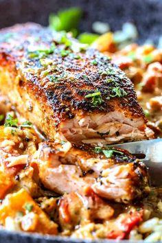 Salmon Recipe Pan, Seared Salmon Recipes, Pan Seared Salmon, Salmon Sauce, Wild Salmon Recipe Baked, Skinless Salmon Recipe, Oven Salmon Recipes, Oven Baked Salmon, White Fish Recipes