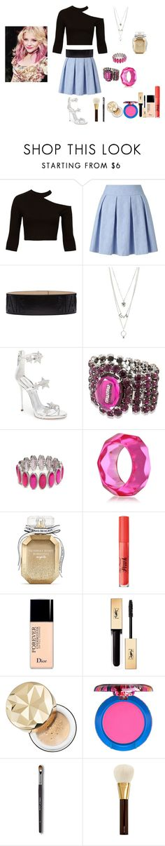 """if star butterfly light was on a show like scream queens outfit 2"" by miliorobb on Polyvore featuring Sans Souci, Miss Selfridge, Balmain, Charlotte Russe, Giuseppe Zanotti, Miu Miu, New Directions, Kenneth Jay Lane, Victoria's Secret and Too Faced Cosmetics"