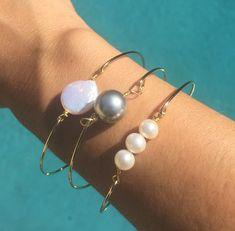 Pearl Bangle, Hawaiian Jewelry, Hawaiian Bangle, Gifts For Mom, Hawaiian Bracelets, natashaaloha