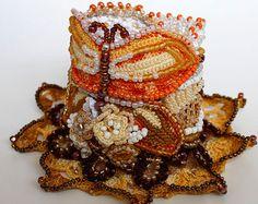 All'uncinetto perline braccialetto bracciale. di KaterinaDimitrova