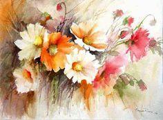 watercolor floral arrangements - Google Search